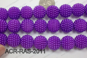 Acrylic Raspberry round Purple 18mm ACR-RAS-2011