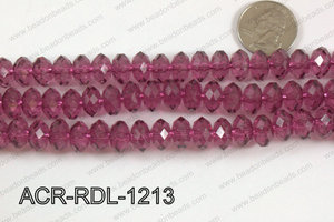Acrylic Rondelle faceted 12mm wine  ACR-RDL-1213