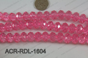 Acrylic Rondelle faceted 16mm light pink  ACR-RDL-1604