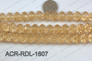Acrylic Rondelle faceted 16mm beige  ACR-RDL-1607