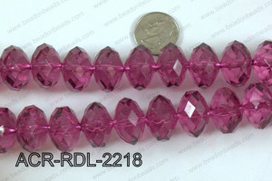 Acrylic Rondelle faceted 22mm wine  ACR-RDL-2218