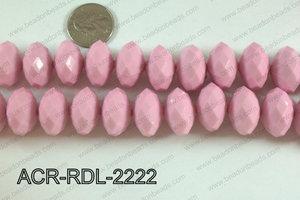 Acrylic Rondelle faceted 22mm pink  ACR-RDL-2222