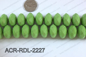 Acrylic Rondelle faceted 22mm green  ACR-RDL-2227