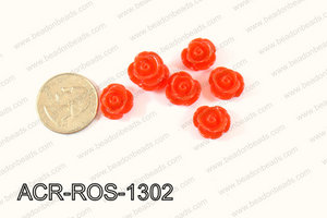 Acrylic Rose bead 13mm white ACR-ROS-1302