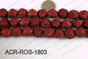 Acrylic Rose Red 18mm ACR-ROS-1803