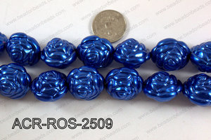 Acrylic Rose 25mm dark blue ACR-ROS-2509