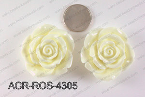 Acrylic Pendant Rose Cream 43mm ACR-ROS-4305