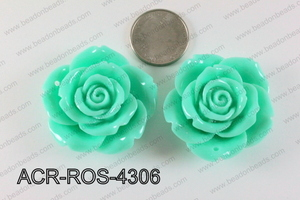Acrylic Pendant Rose Mint 43mm ACR-ROS-4306