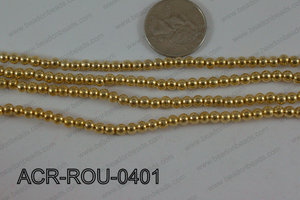 Acrylic Round Gold 4mm ACR-ROU-0401