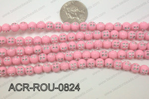 Acrylic Dice Round Light Pink 8mm ACR-ROU-0824