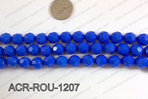 Acrylic Round faceted 12mm dark blue ACR-ROU-1207