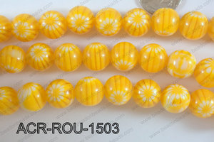 Acrylic Round Yellow 15mm ACR-ROU-1503
