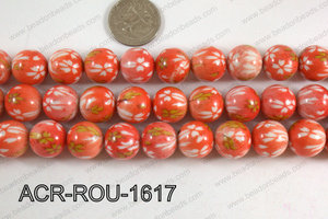 Acrylic Round  Orange 16mm ACR-ROU-1617