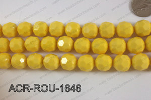 Acrylic Round faceted 16mm yellow ACR-ROU-1646