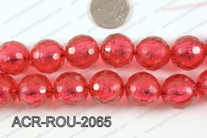 Acrylic Foil Faceted Round 20mm ACR-ROU-2065
