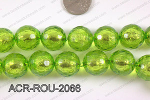 Acrylic Foil Faceted Round 20mm ACR-ROU-2066