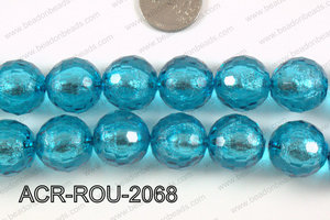 Acrylic Foil Faceted Round 20mm ACR-ROU-2068