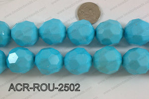 Acrylic Round faceted 25mm blue  ACR-ROU-2502