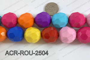 Acrylic Round faceted 25mm multi  ACR-ROU-2504