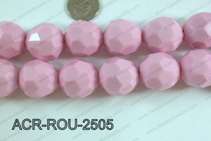 Acrylic Round faceted 25mm pink  ACR-ROU-2505