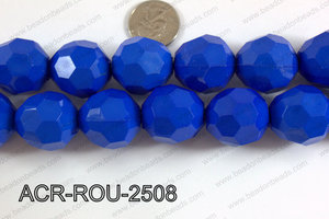 Acrylic Round faceted 25mm dark blue  ACR-ROU-2508
