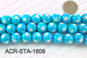 Acrylic Star Round Light blue 16mm ACR-STA-1609