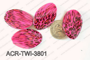 Acrylic Twisted Oval 500g Bag 24x38mm ACR-TWI-3801