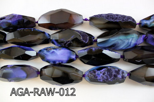 "Agate Faceted Nugget 16"" AGA-RAW-012"