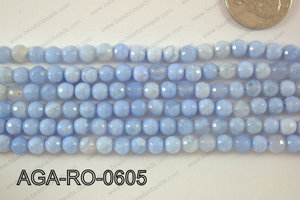 Agate Round Faceted 6mm AGA-RO-0605