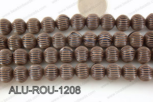 Aluminium Bead Copper 12mm ALU-ROU-1208