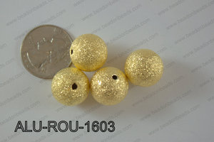 Aluminium  Beads Round 16mm gold ALU-ROU-1603