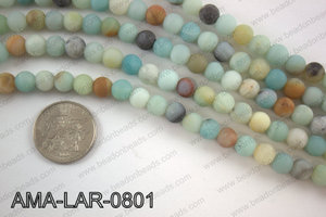 Large hole amazonite matte round 8mm AMA-LAR-0801