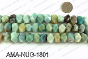 Amazonite faceted nugget beads 18x13mm AMA-NUG-1801