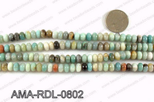 Rondelle Amazonite beads 8mm AMA-RDL-0802