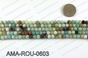Round Amazonite beads 6mm AMA-ROU-0603
