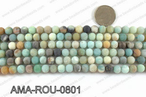 Round Matte Amazonite beads 8mm AMA-ROU-0801