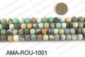 Round Matte Amazonite beads 10mm AMA-ROU-1001
