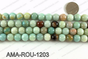 Round Amazonite beads 12mm AMA-ROU-1203