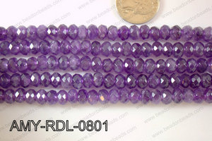 Amethyst Rondel Faceted 8mm AMY-RDL-0801