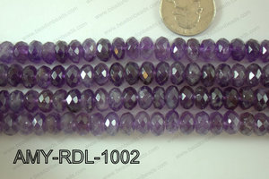 Amethyst rondel Faceted 10mm AMY-RDL-1002