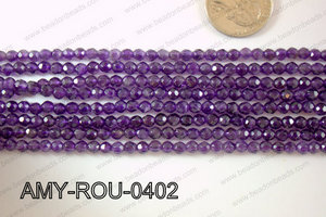 Amethyst Round Faceted 4mm AMY-ROU-0402