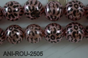Animal Print Round Light Pink 25mm ANI-ROU-2505