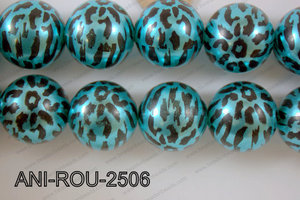 Animal Print Round Blue 25mm ANI-ROU-2506