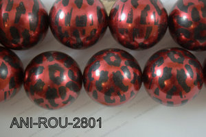 Animal Print Round Red 28mm ANI-ROU-2801