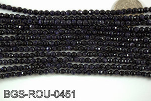 Blue Gold Stone Round 4mm BGS-ROU-0451