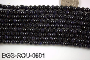 Blue Gold Stone Round 6mm BGS-ROU-0601