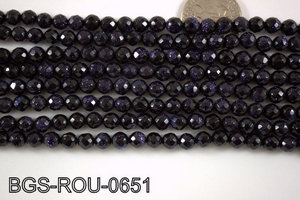 Blue Gold Stone Round 6mm BGS-ROU-0651