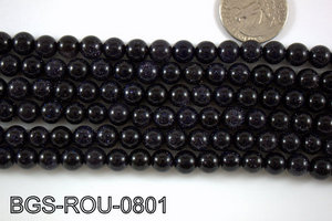 Blue Gold Stone Round 8mm BGS-ROU-0801