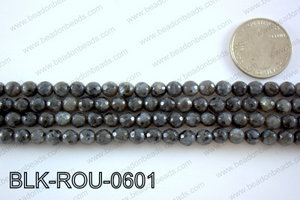 Black Labradorite faceted round 6mmBLK-ROU-0601