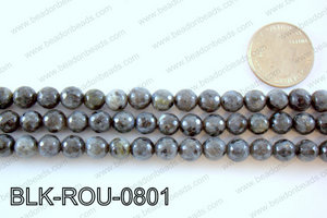 Black Labradorite faceted round 8mmBLK-ROU-0801